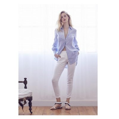 Atlantic Boyfriend Shirt - Sky Stripe 5