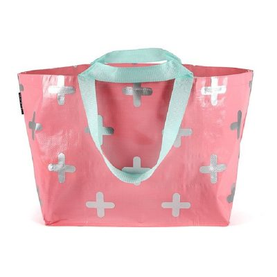 Blush Pink and Silver Cross Tote