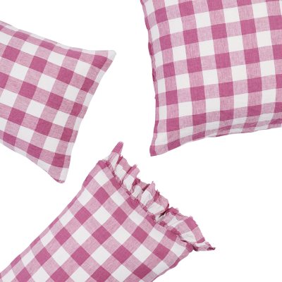 Nest-Seven-Pillowcase-Set-Fuchsia-Gingham-Society-of-Wanderers