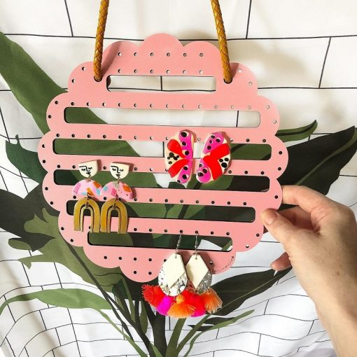 Nest-Seven_flower_power_blush_hanging_earring_holder_multistyle_Bon-Maxie