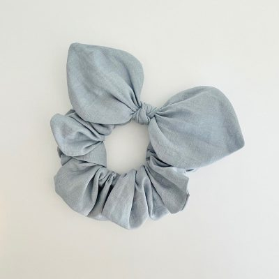 Nest-Seven-Bow-Scrunchie-Linen-Powder-Blue-Pip-Co.jpg